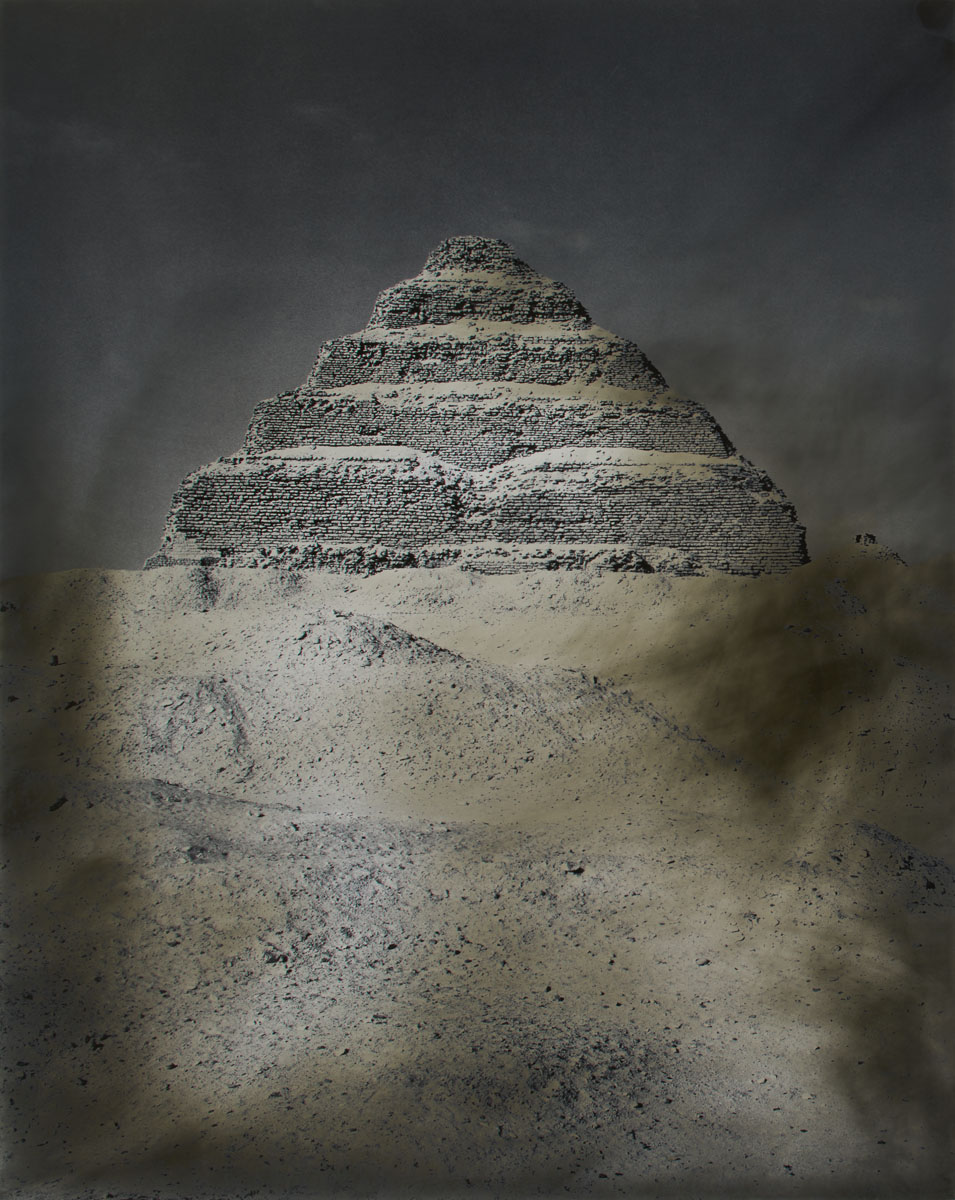 Step Pyramid of Djoser, Saqqara, Egypt. 49,5 x 39,5 cm